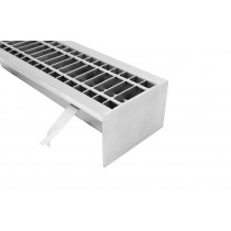 Stainless steel   industrial  floor drains with grate S140-S500-