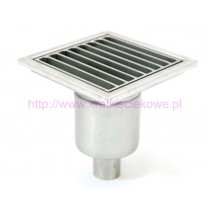 Stainless steel square floor gully 200x200  with vertical outlet-