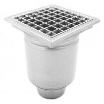 Stainless steel profi square floor gully 200x200 with side outlet-