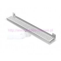 Channel WALL shower drains with curved flange 600mm -