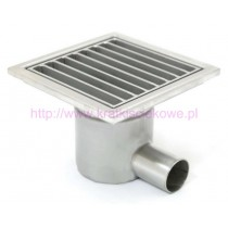 Stainless steel square floor gully 150x150 with side outlet-
