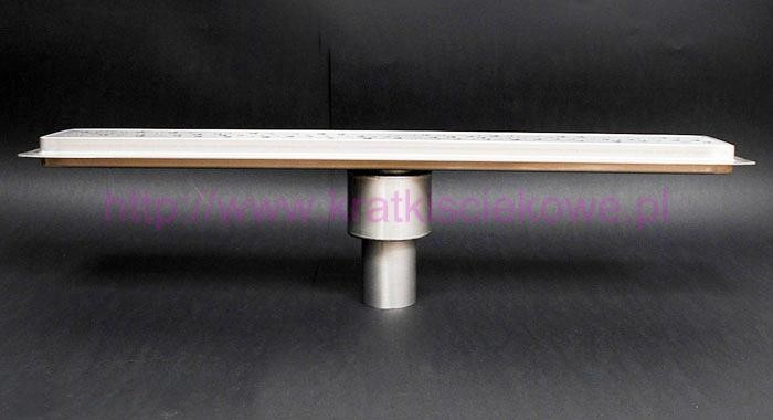 Channel shower drains with vertical outlet and 800mm flange- 800KD_m