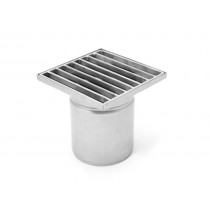 Stainless steel square floor gully 150x150 with vertical outlet-