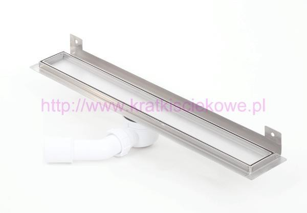 Tile insert channel WALL shower drains with curved flange 600mm - 600KWF_zab_p