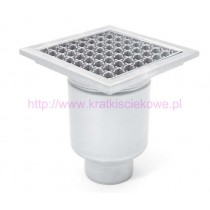 Stainless steel profi square floor gully 250x250 with vertical outlet-