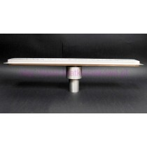 Tile insert channel shower drains with vertical outlet and 700 mm flange-