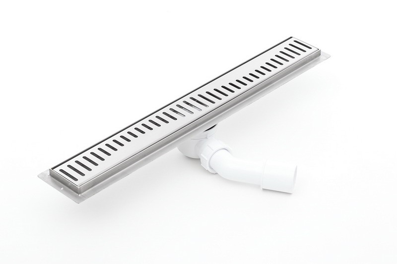 Channel shower drain with grate and 800mm flange - 800KF_p